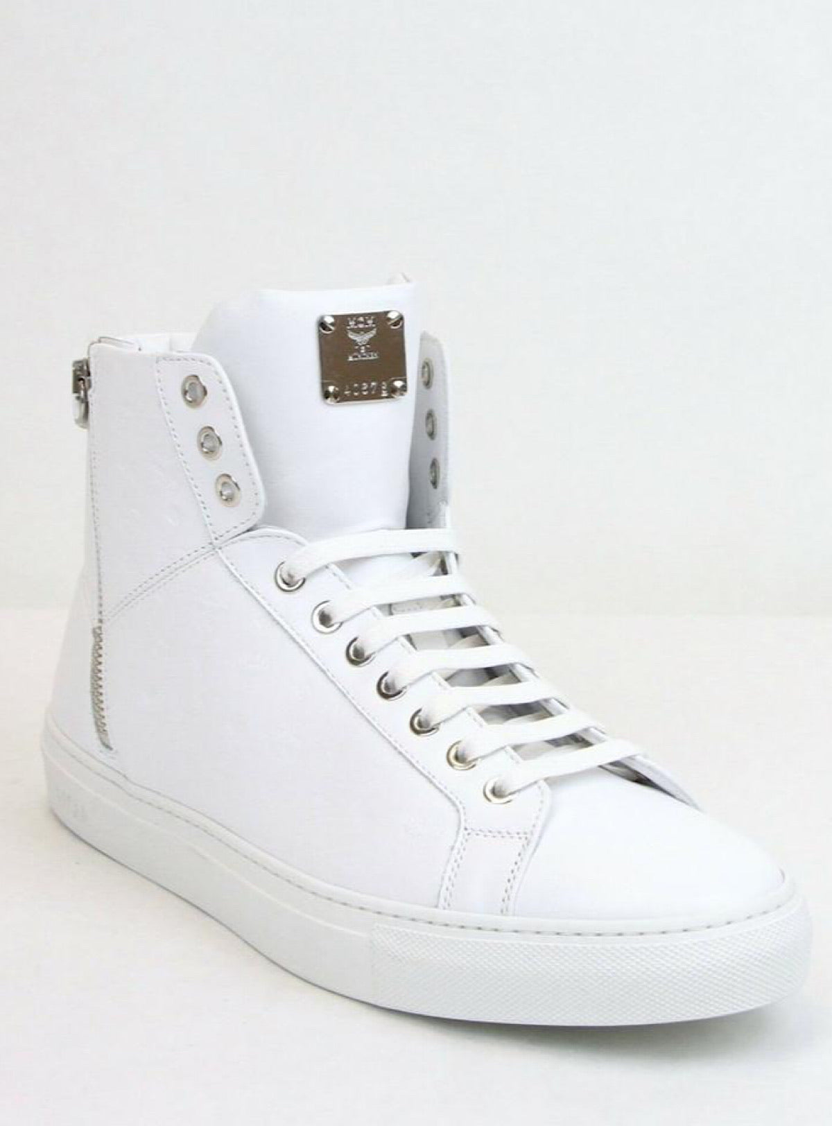 MCM Shoes - Visetos High Top - All White