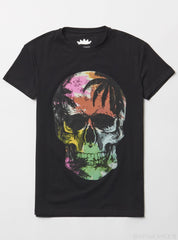 Heads Or Tails T-Shirt - Tropical Skull - Black - 29268