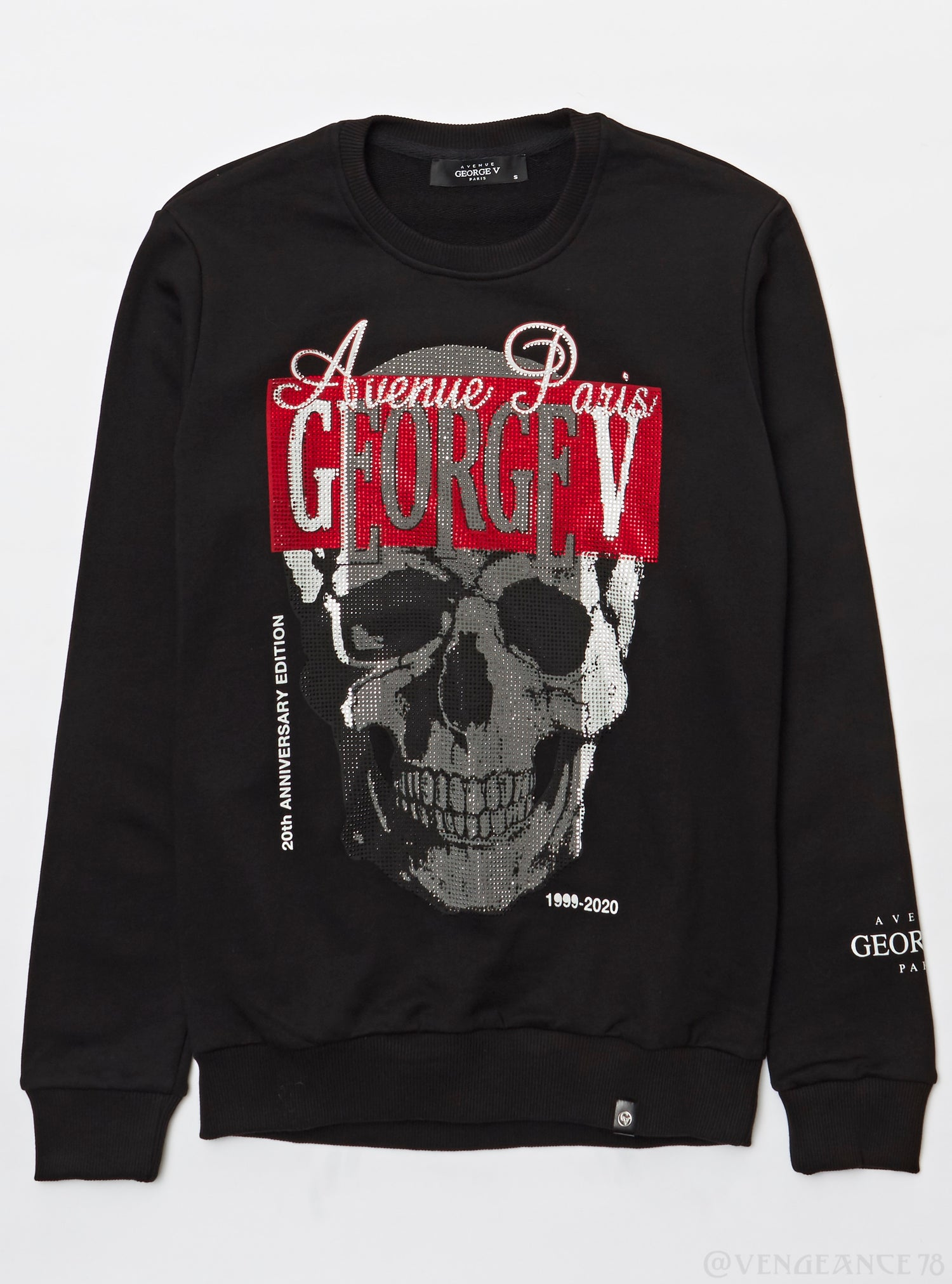 George V Sweater - Crewneck Skull - Black
