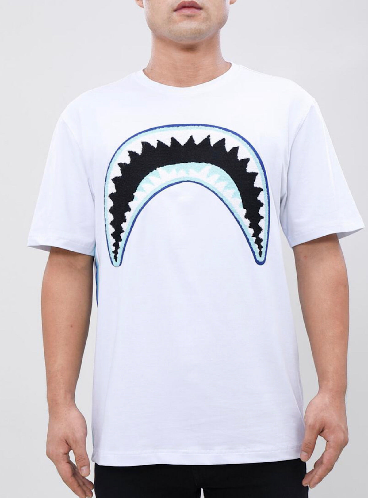 Eternity T-Shirt - Shark Mouth - White And Blue - E1133198
