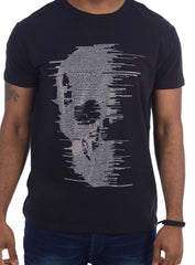 Heads Or Tails T-Shirt - Half Skull - Black - 28203