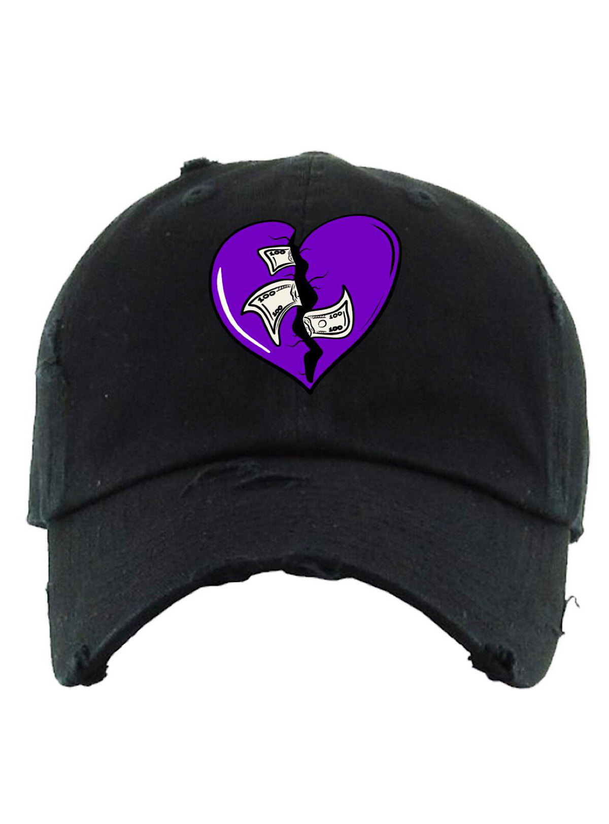 PG Apparel Hat - Heartless - Black and Purple