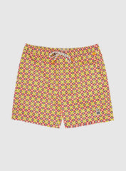 Psycho Bunny Shorts - Folkesstone Swim Trunks - Sangria - B6W7141NS