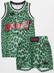 GRMY Short Set - Leopard - Green