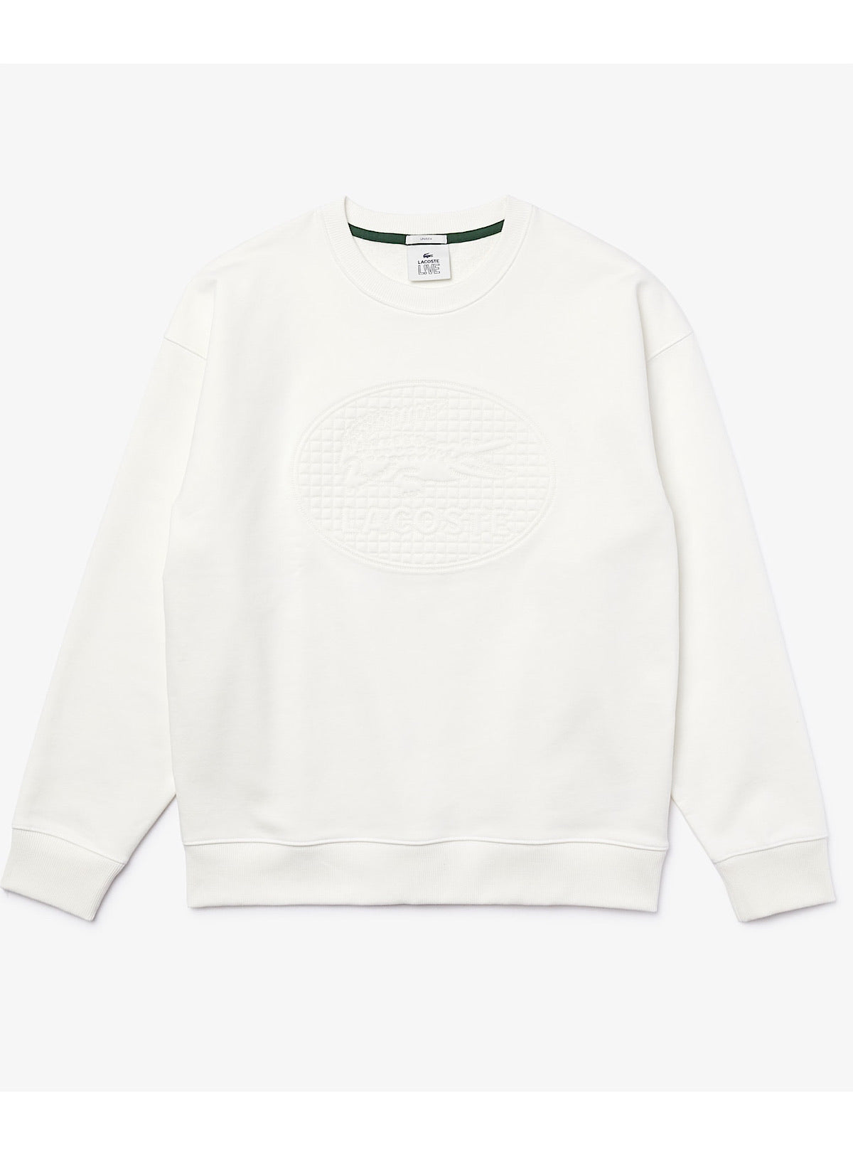 Lacoste Sweater - Loose Fit Crew - White - SH1443
