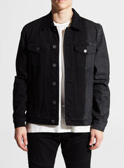 Embellish Ford Denim Jacket Embsp219-207 Black