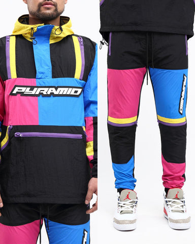 Black Pyramid Tech Block Sweatsuit Pnk-Mx Pink