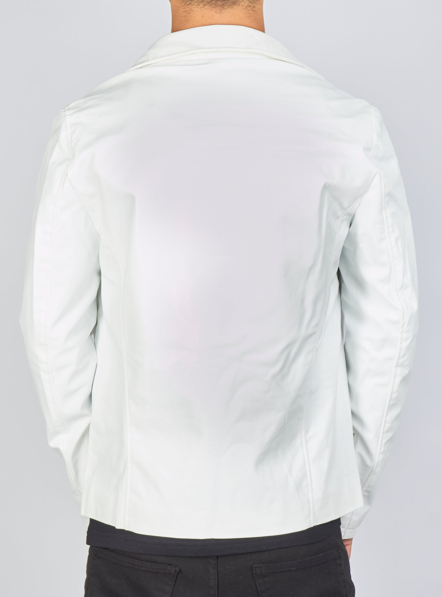 Buyer's Choice Leather Jacket - Biker - White - 3265