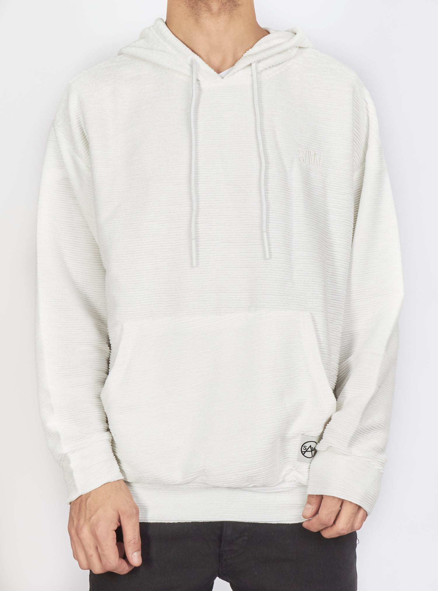 Buyer's Choice Hoodie - Ribbed - White - SW-21577