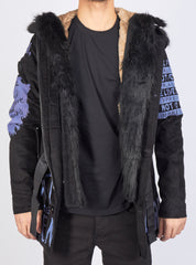 Buyer's Choice Coat - Positive Vibes - Black with Purple - 3057