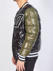 Buyer's Choice Puffer Coat - Varsity - Green and Black - 3277