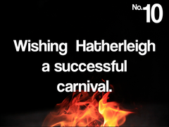 No.10 wishing Hatherleigh a successful carnival