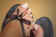 French Polish Application Treatment - Add On for Feet by Jessica Mortimore