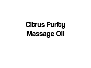 Citrus Purity Massage Oil