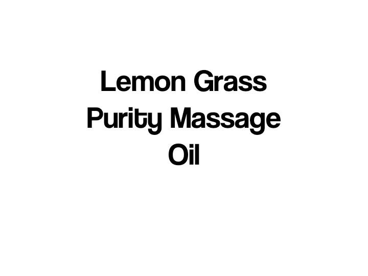 Lemon Grass Purity Massage Oil