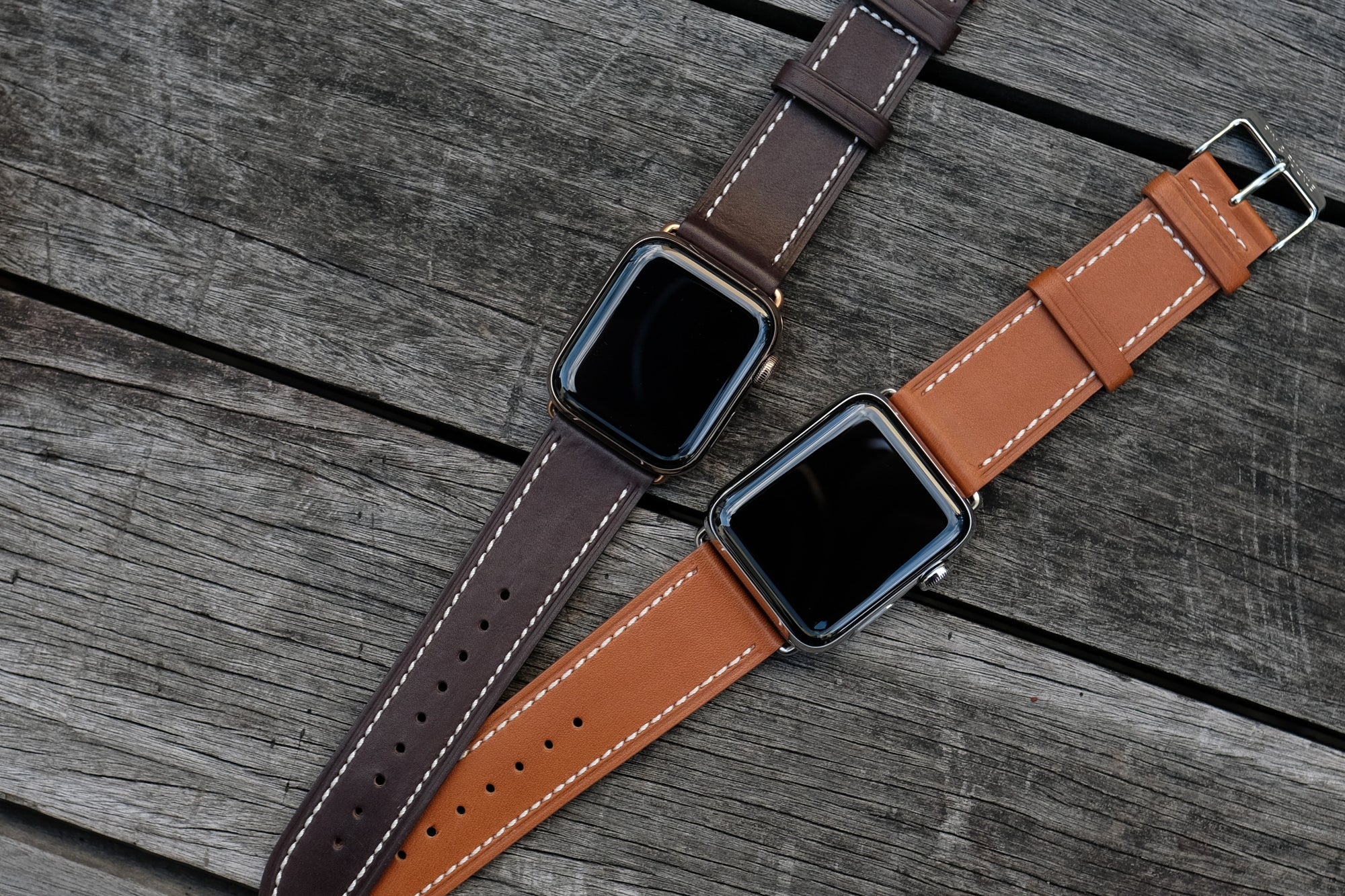 Barenia Leather Apple Watch Bands by Pin & Buckle