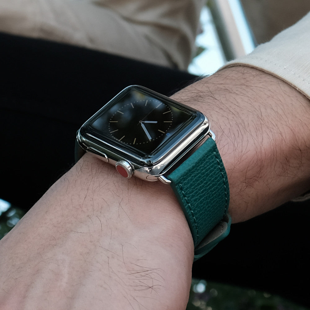 Pin and Buckle Apple Watch Bands - Epsom - Textured Leather Apple Watch Band