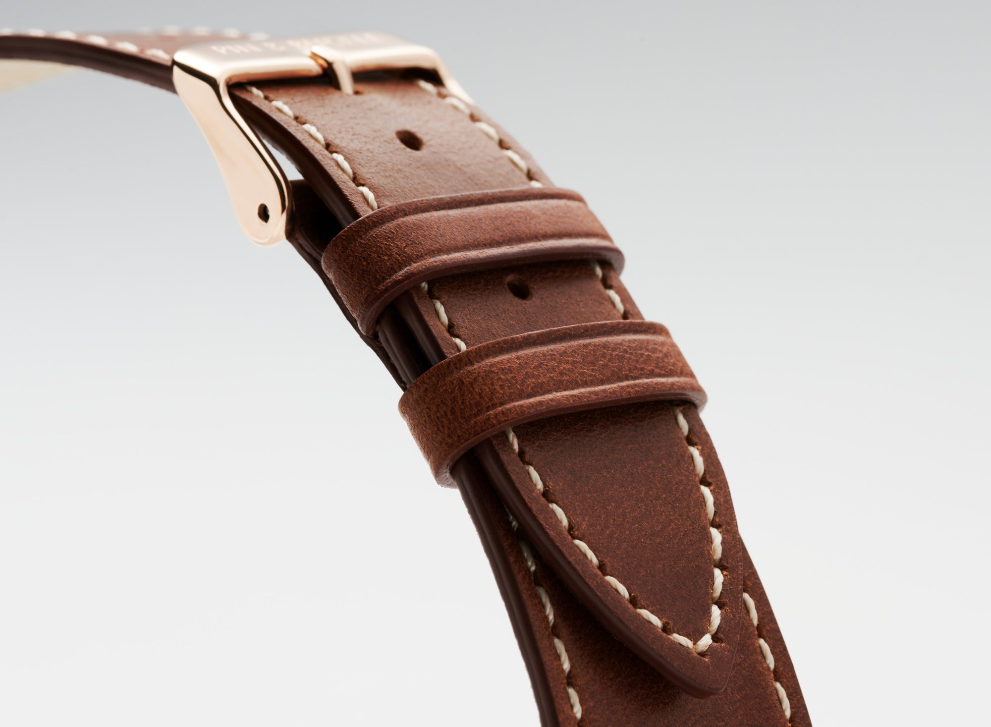 Pin and Buckle Apple Watch Bands - Full Grain Vegetable Tanned Leather - Luxe - Chestnut Brown - Vegetable Tanned Full Grain Leather
