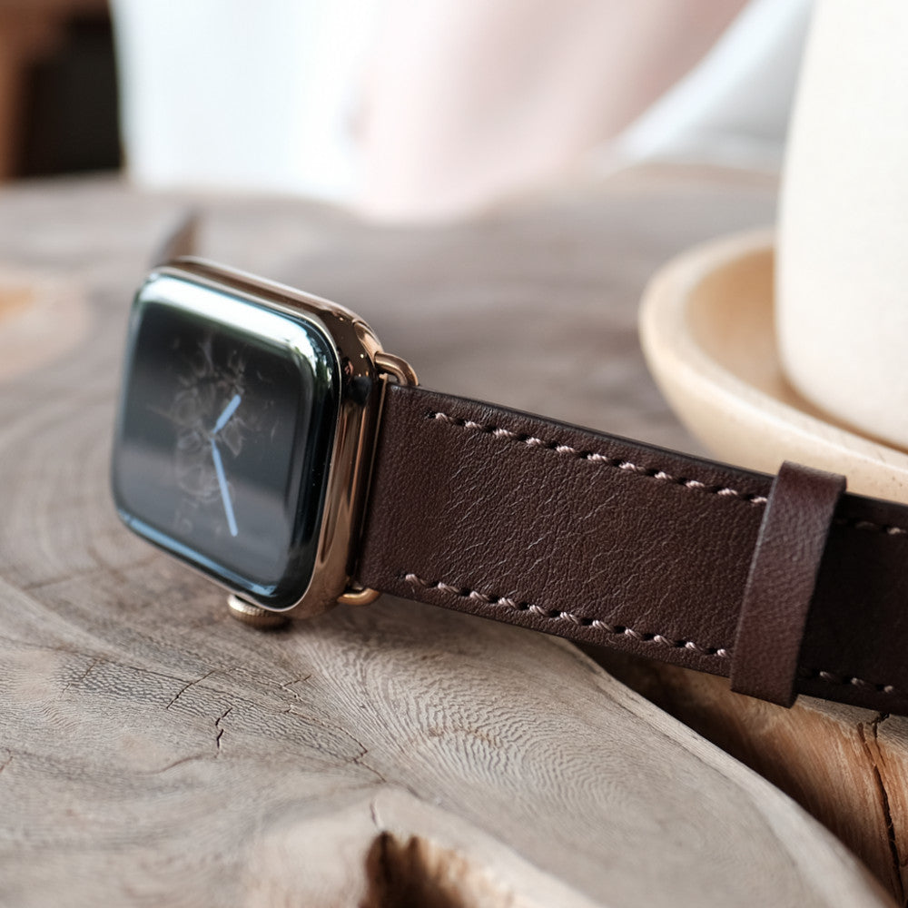 Pin and Buckle Apple Watch Bands - Luxe Full-Grain Vegetable Tanned Leather