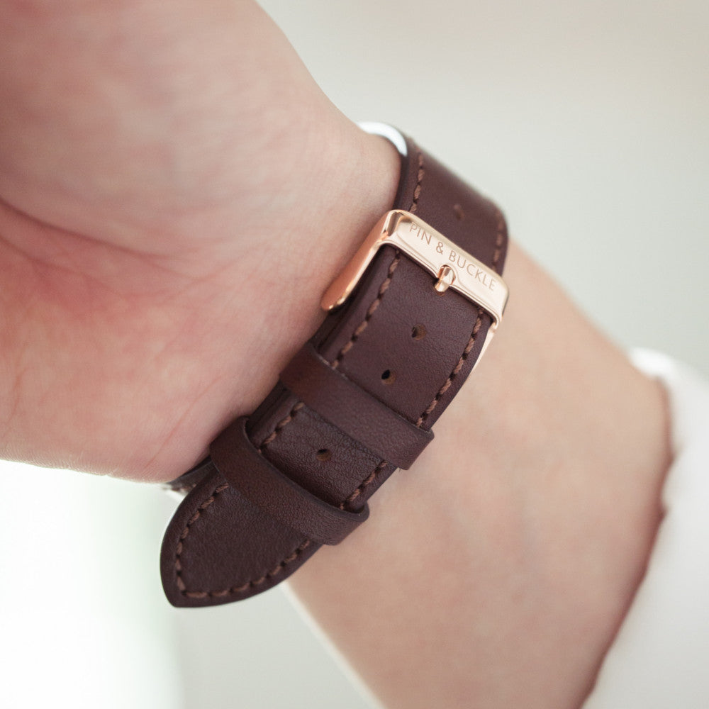Pin and Buckle Apple Watch Bands - Luxe Full-Grain Vegetable Tanned Leather Apple Watch Bands