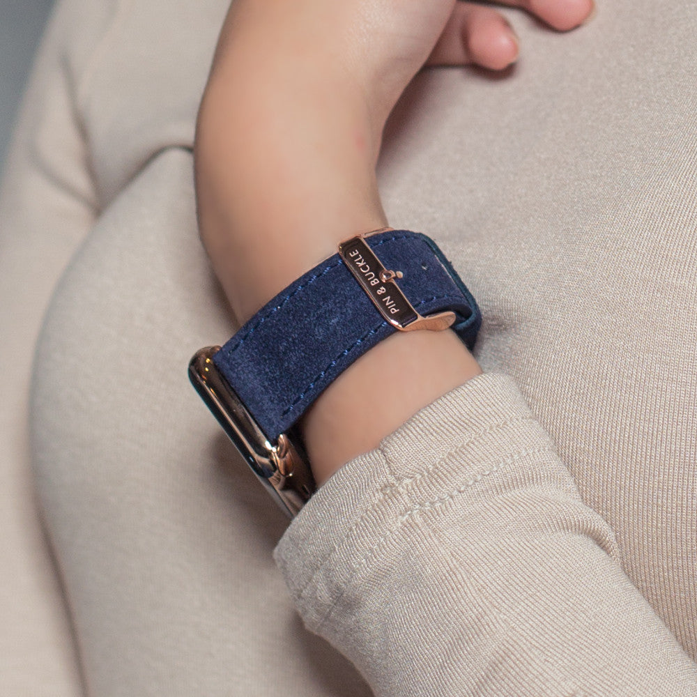 1d7b30e3cc622 Pin and Buckle Apple Watch Bands - Velour - Suede Leather Apple Watch Bands  - French. French Suede