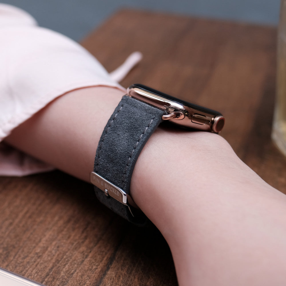 Pin and Buckle Apple Watch Bands - Velour - Suede Leather Apple Watch Bands Collection