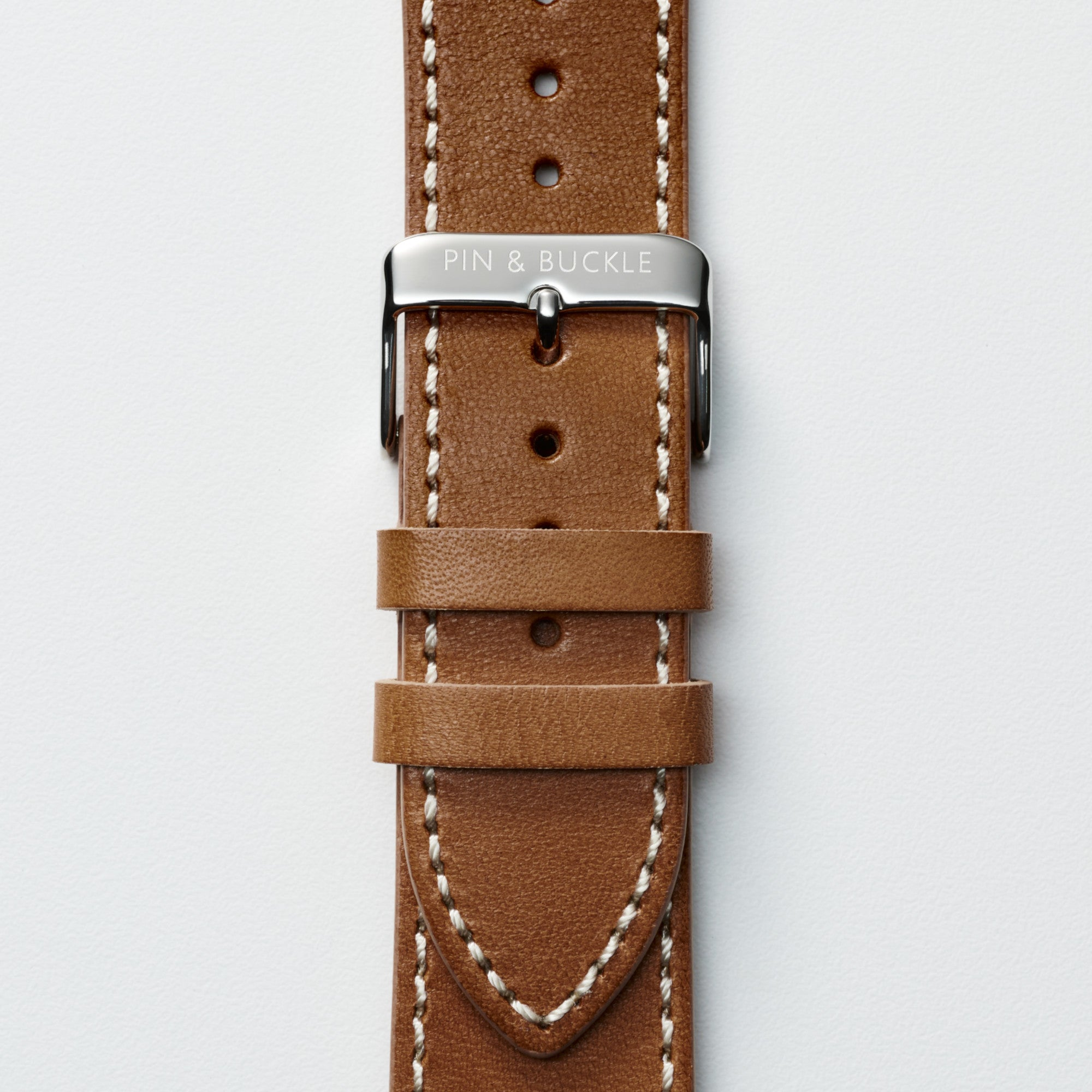 Vachetta Leather Apple Watch Band by Pin & Buckle - Patina Day 90