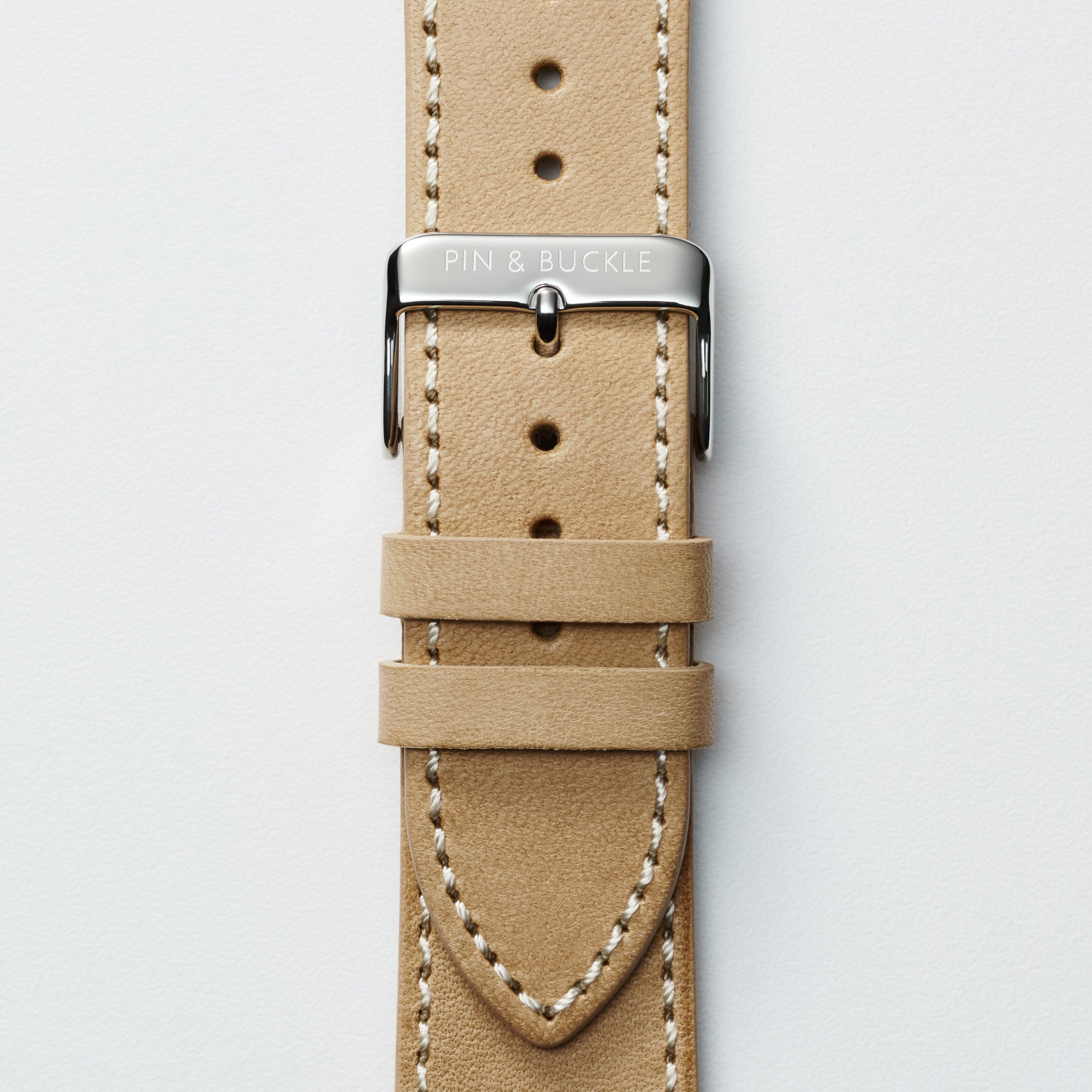 Vachetta Leather Apple Watch Band by Pin & Buckle - Patina Day 1