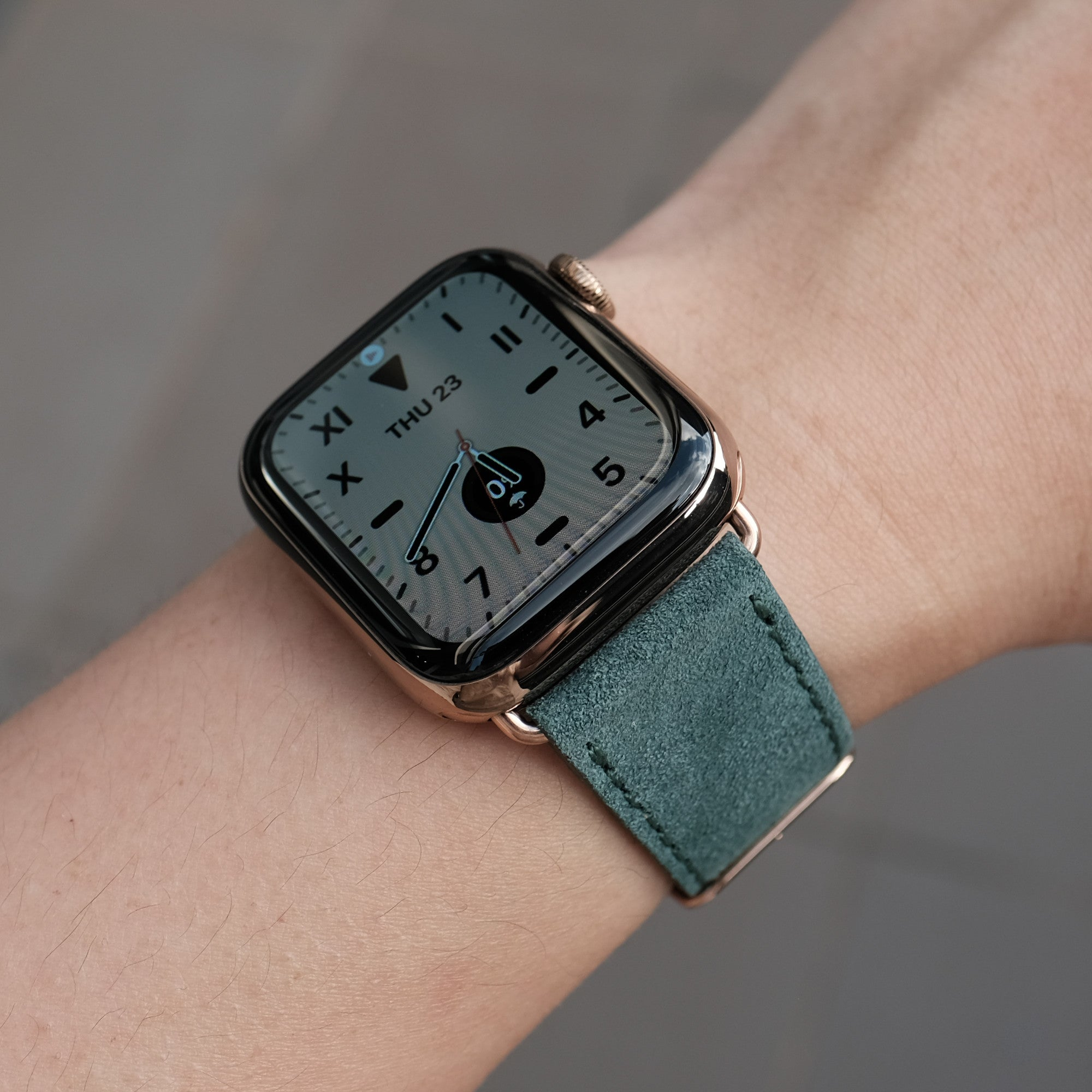 Velour Suede Apple Watch Band - Pine