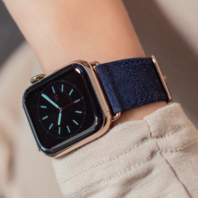 63433156bd51a Pin and Buckle Apple Watch Straps - Velour - Suede Leather Apple Watch Strap  - Azure