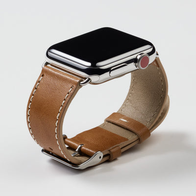 Pin and Buckle Vachetta Leather Apple Watch Band - Patina 90 Days