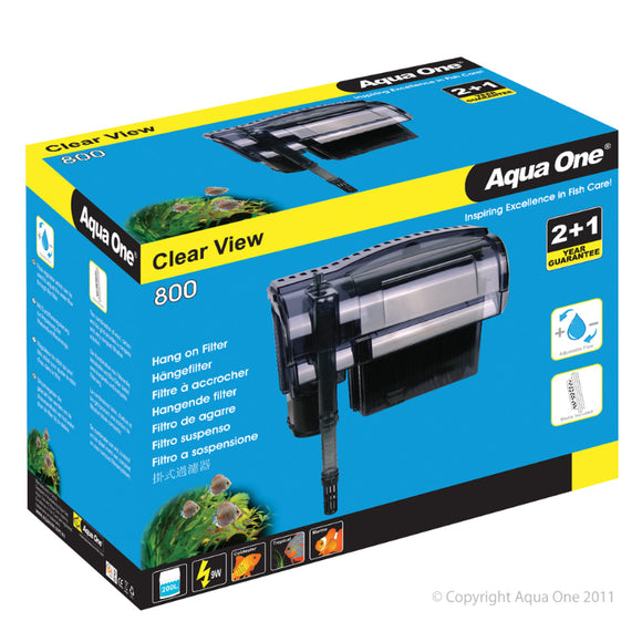Aqua One 800 ClearView Hang On Filter 800 L/Hr