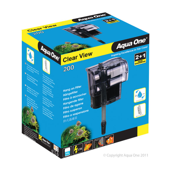 Aqua One 200 ClearView Hang On Filter 200 L/Hr