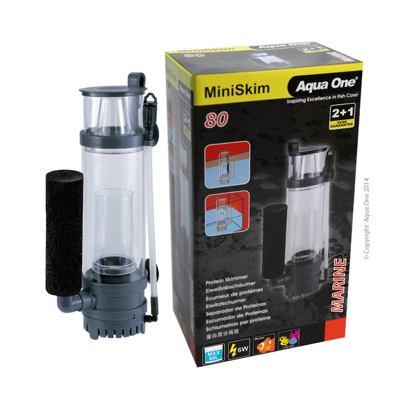 Aqua One MiniSkim 80 Protein Skimmer Inc Pump 60LH Up To 80L