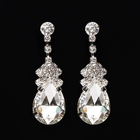 Missy Shiny Rhinestone Water Drop Earrings
