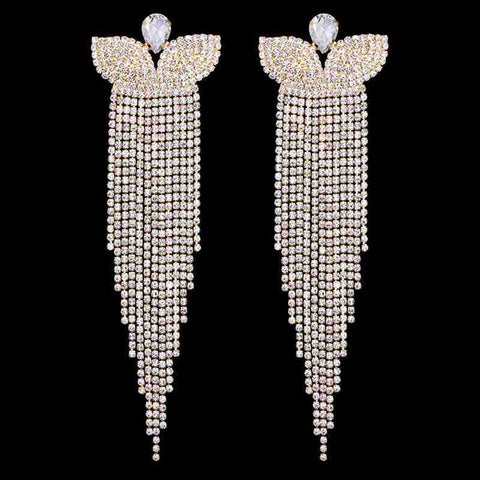 Butterfly Bell Crystal Bridal Earrings