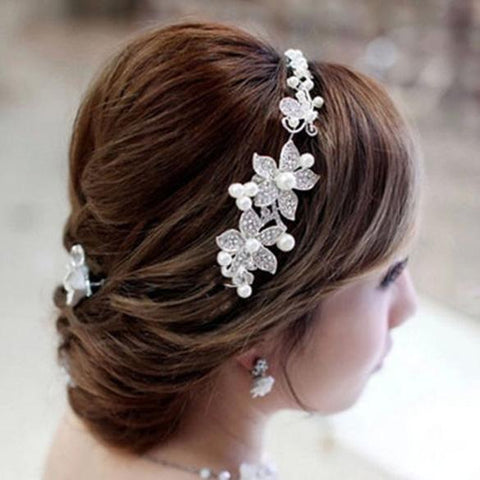 Angelica Malavoy Simulated Pearl Bridal Headband