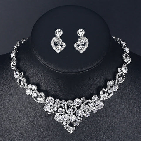 Moi Heart Crystal Bridal Jewelry Set