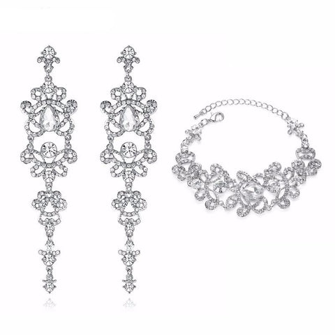 Smack Crystal Bridal Wedding Jewelry Set