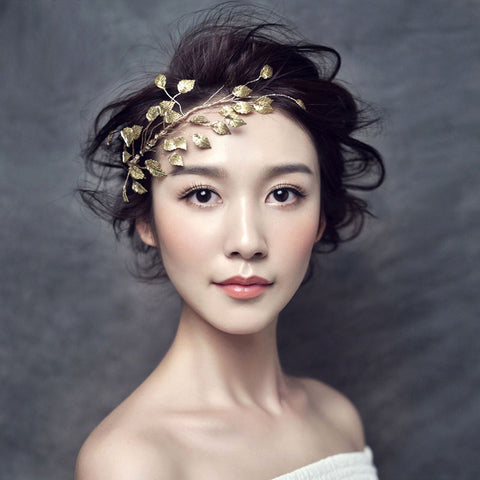 Bari Bridal Leaf Headband