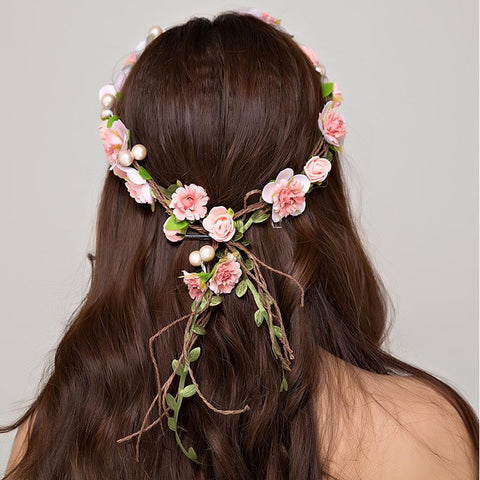 Alexis Bridal Flower Crown Headband
