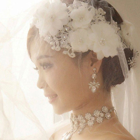 Lucy Wedding Lace Flower Headpiece