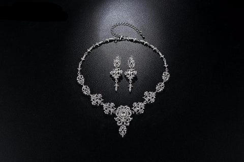 Senda Classic Crystal Bridal Jewelry Set