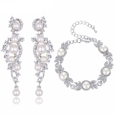 Deejay Simulated Pearl Jewelry Set