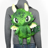 Cut & Sew Green Dragon Back Pack