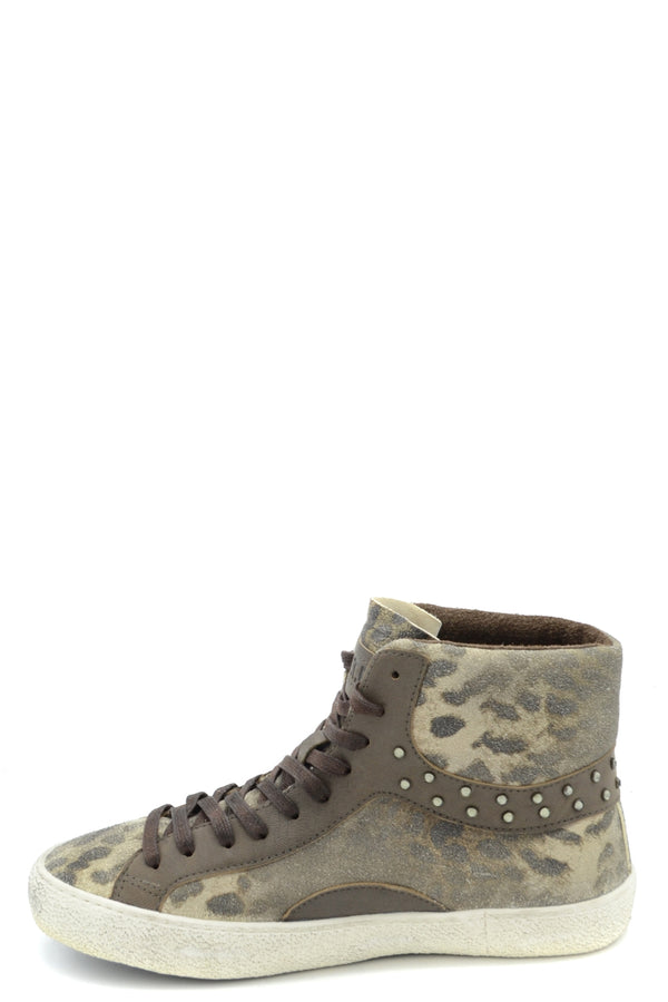 Green Leather Shoes D.A.T.E. for Women-Sneakers - WOMAN-Mudawwana UK