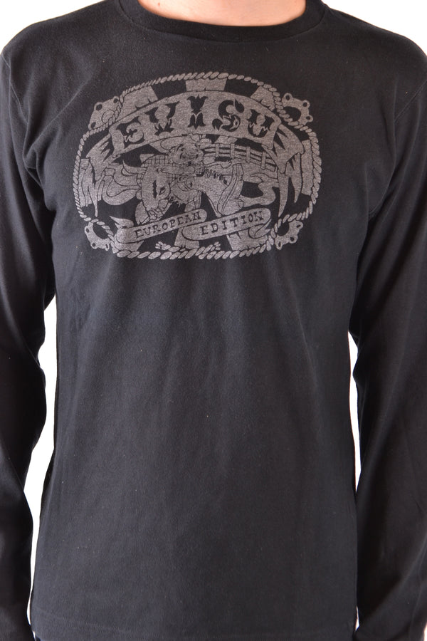 Black Cotton Sweater Evisu for Men-Sweater - MAN-Mudawwana UK
