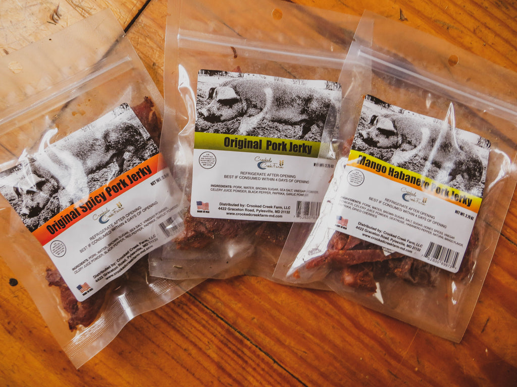 Crooked Creek Farm Pork Jerky Variety Pack