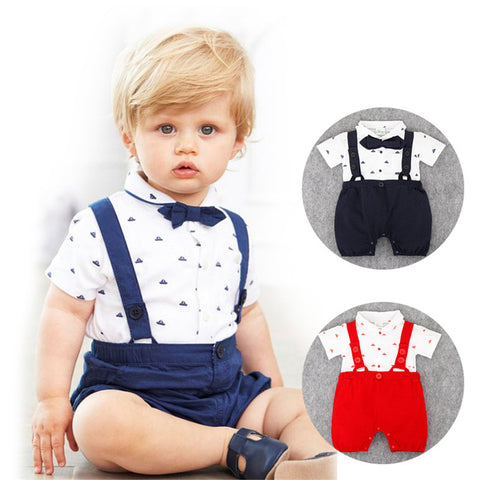 Little Man Baby Rompers