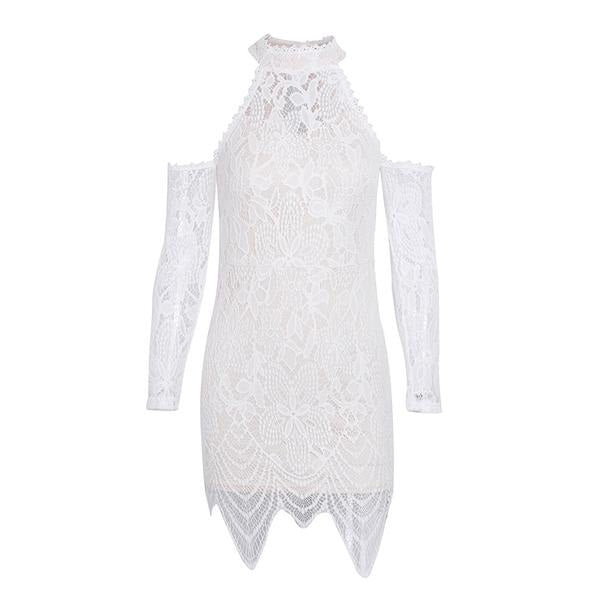 Open - Shoulder Lace Dress